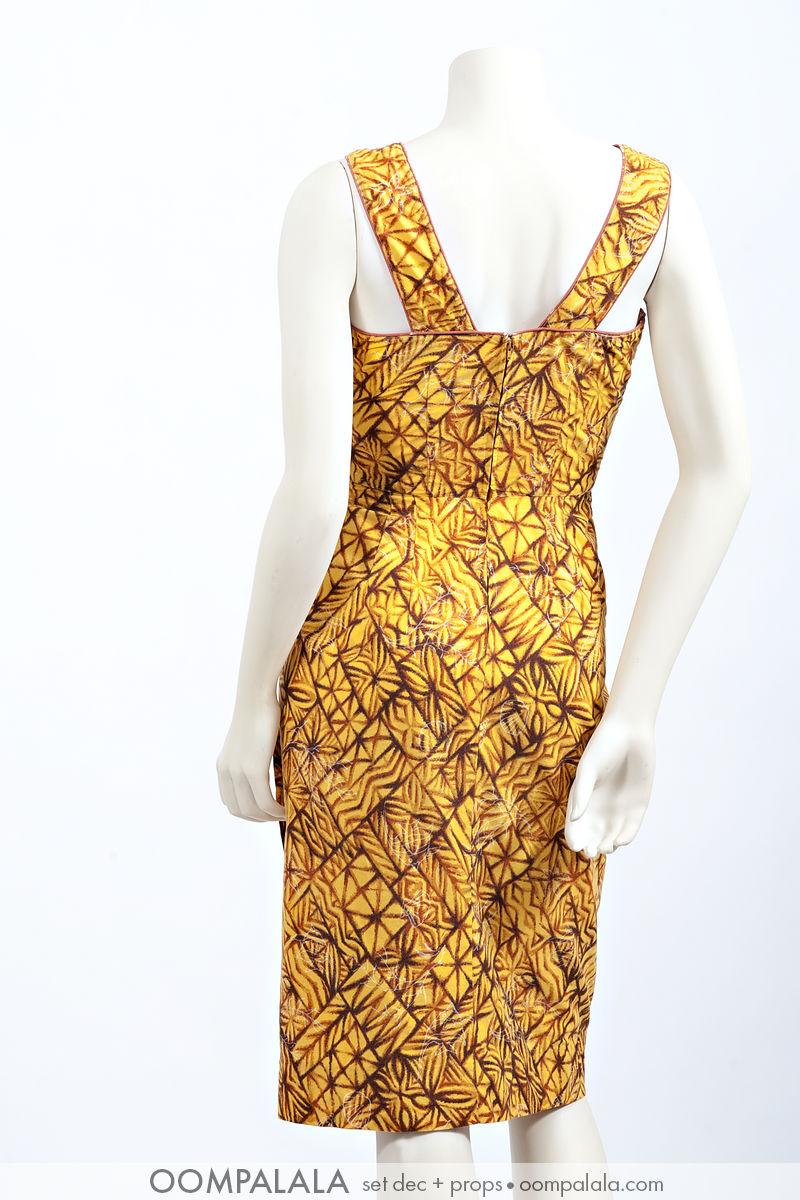 butternut Hawaiian sarong sundress, back view